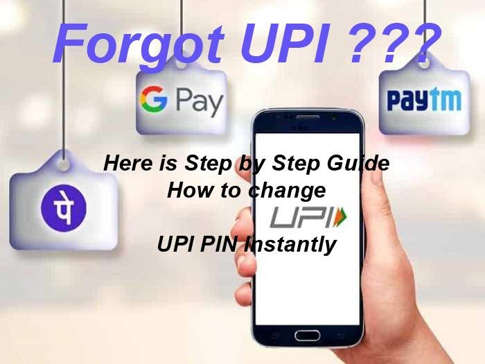 how to change upi pin in googlepay Forgot UPI pin Here is Step by Step Guide How to change UPI PIN Instantly